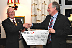 Cheque presented to CHSW