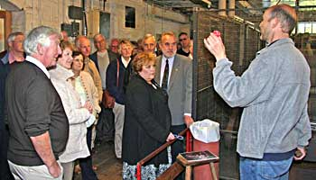 The club visits Coldharbour Mill, Uffculme