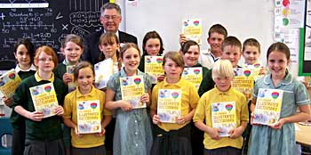 Dictionaries donated at Bolham School