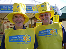 Marie Curie stand at Mid Devon Show