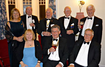 Exmoor Rotarians before the Gala Dinner