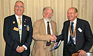 District Governor and a new member