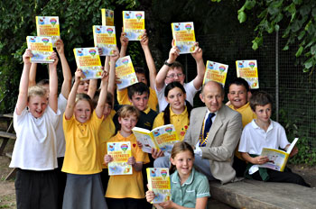 Rotary Dictionaries being presented at Bolham School