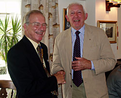 Bill Wright is welcomed into the club