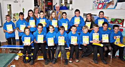 Rotary Dictionarioes presented to Bolham School